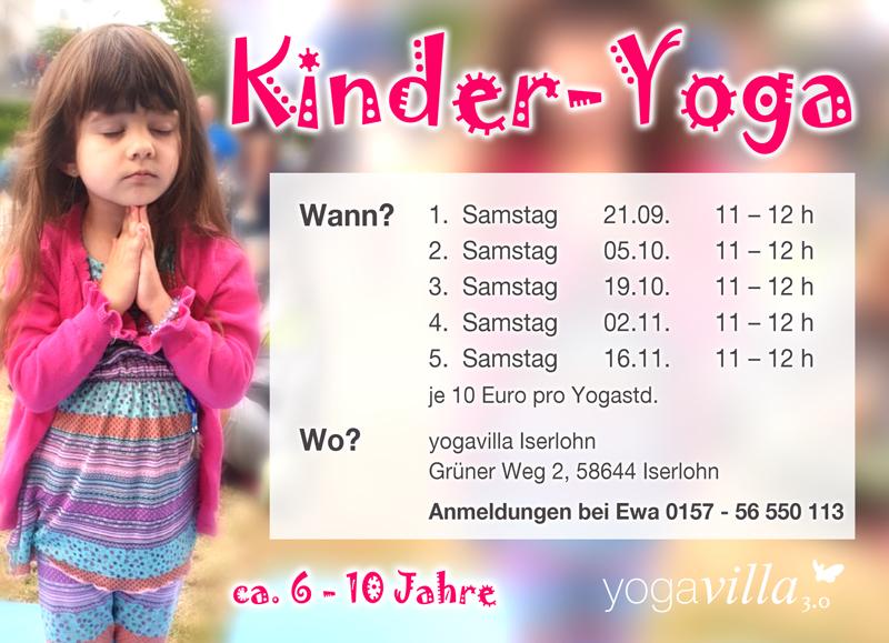 Kinderyoga in der Yogavilla