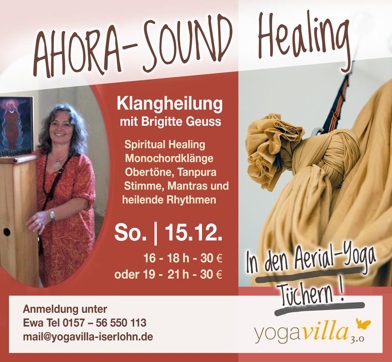 Ahora-Sound Healing in den Aerial-Yoga-Tüchern