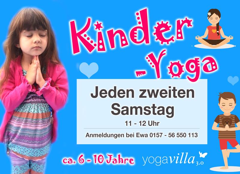 Kinderyoga, jeden zweiten Samstag in der yogavilla