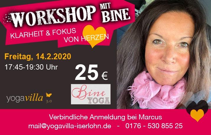 Workshop mit Bine - Klarheit und Focus von Herzen