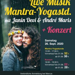 Janin Devi + Andre Maris LIVE Mantra Yogastunde + Konzert