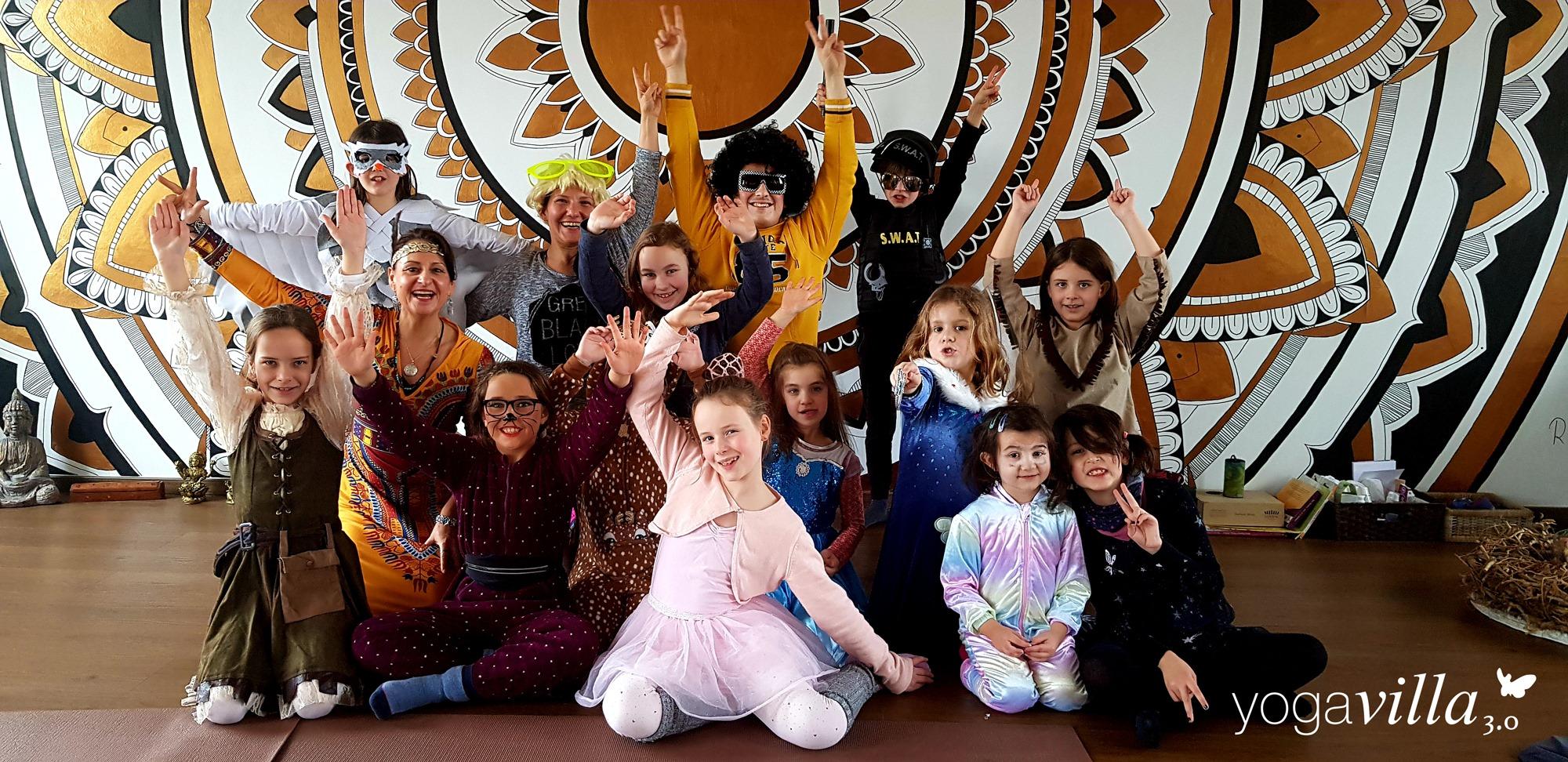2020-02-22 - Kinder-Lach-Yoga-verkleidet