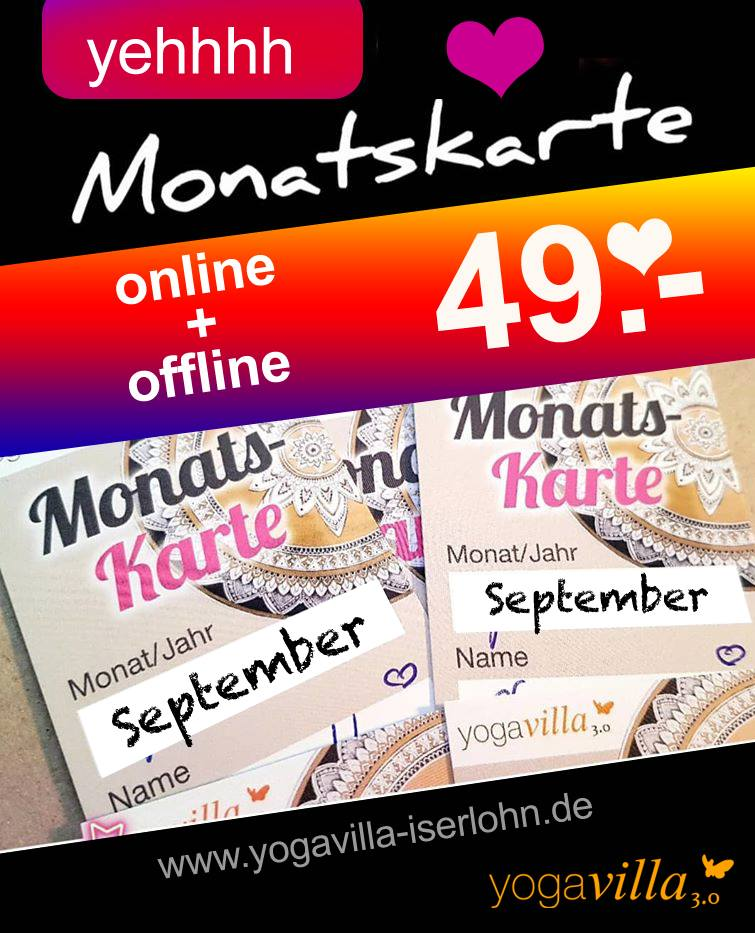 Monatskarte September
